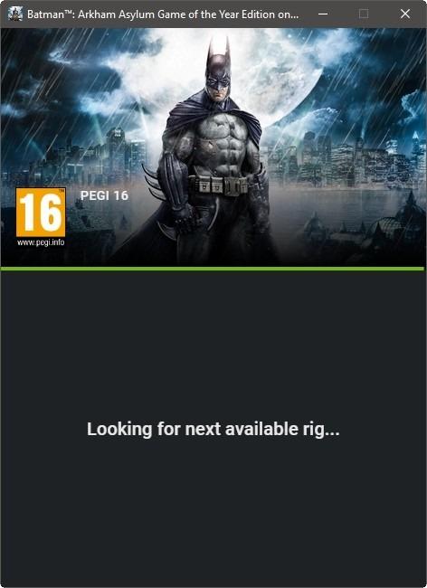 Lista de espera de transmisión de juegos Geforce Now