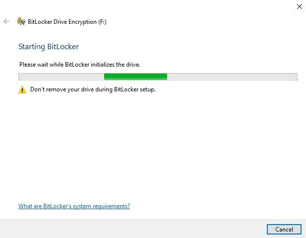 Cifrar memoria USB Windows 10 Drive Manage configurar Bitlocker
