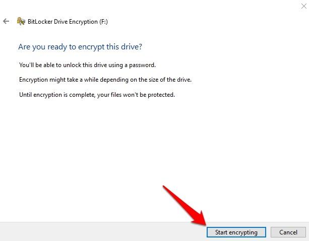 Cifrar memoria USB Windows 10 Drive Bitlocker Habilitar el cifrado