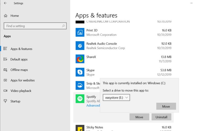 En movimiento Windows Programas Aplicaciones Configuración Seleccione Drive
