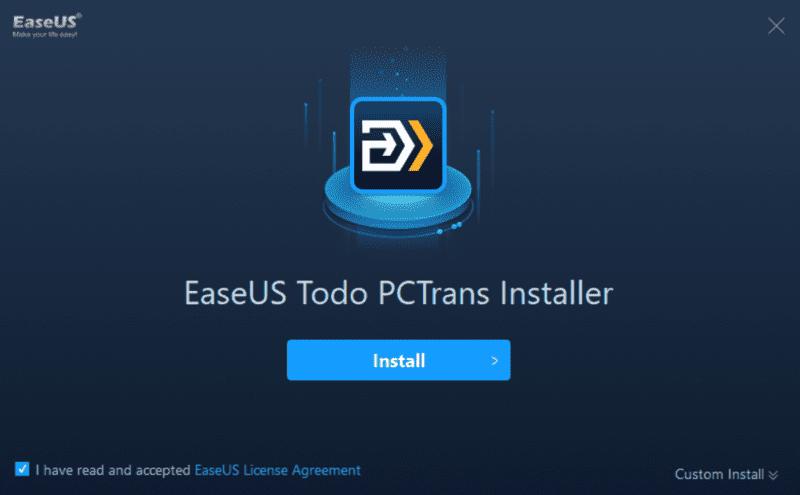 En movimiento Windows Instalador de pctrans