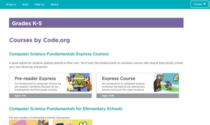 Enseñar a los niños Code Code.org