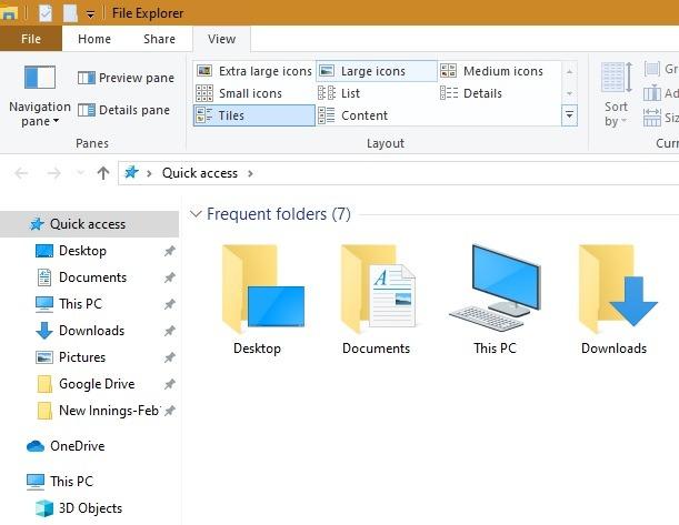 Cambiar el tamaño de los iconos del escritorio Muestra el tamaño de los iconos del Explorador de archivos