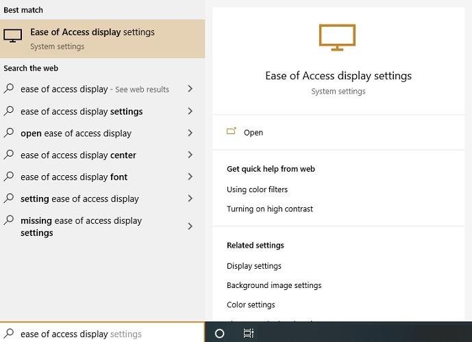 Cambiar el tamaño de los iconos del escritorio Muestra configuraciones de pantalla de fácil acceso