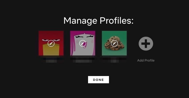 Desactivar la vista previa de Netflix Seleccionar vista previa Seleccionar perfil