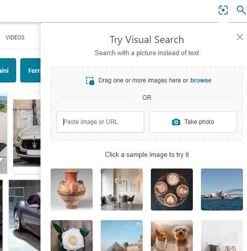 Bing es mejor que la búsqueda inversa de imágenes de Google