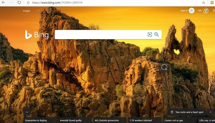 Los fondos de pantalla de Bing son mejores que los de Google