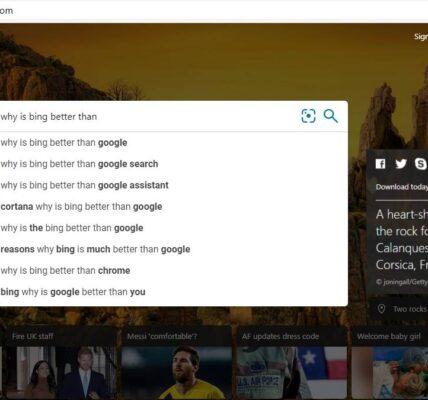 8 cosas que Bing hace mejor que Google