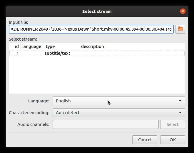 Corrección automática de subtítulos con transmisiones Subsync