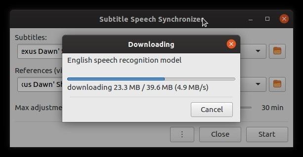 Corrección automática de subtítulos con archivo de voz Subsync