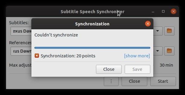 Error en la corrección automática de subtítulos