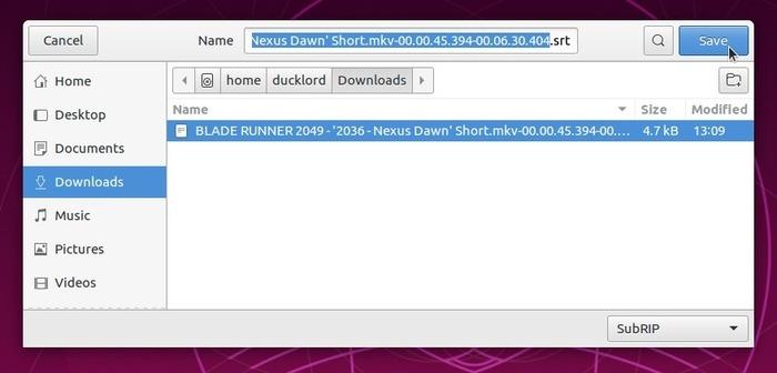 Corrección automática de subtítulos con archivo de cambio de nombre Subsync