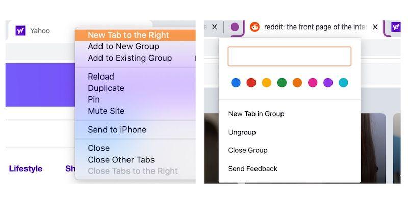 Utilice los grupos de pestañas nuevas del grupo Google Chrome