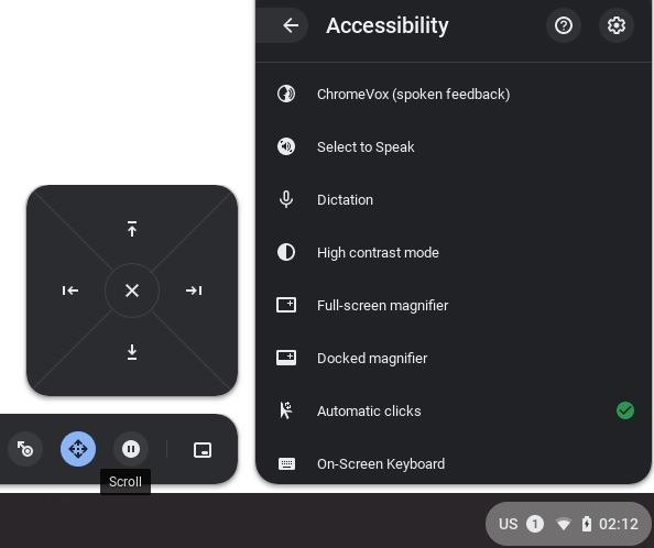 Fydeos Accesibilidad Clics automáticos y otras funciones