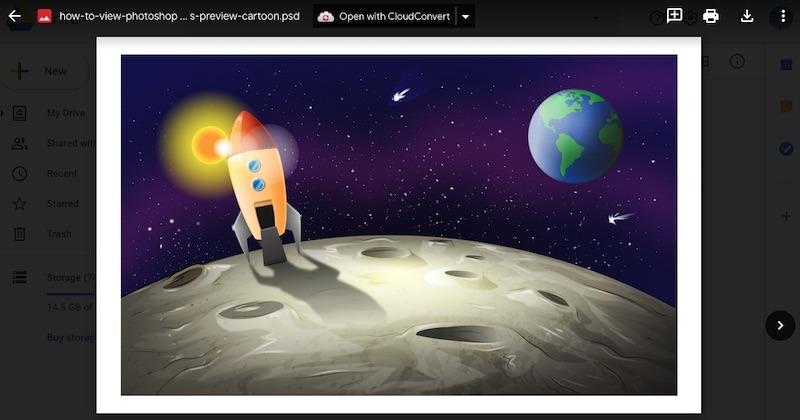 Cómo ver la vista previa de archivos de Photoshop en Google Drive