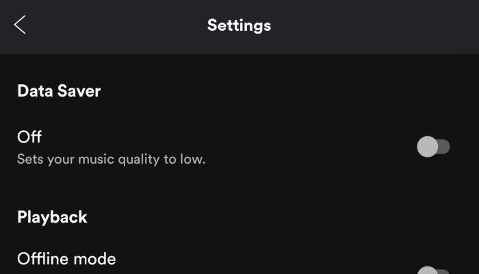 Ahorro de datos de Spotify