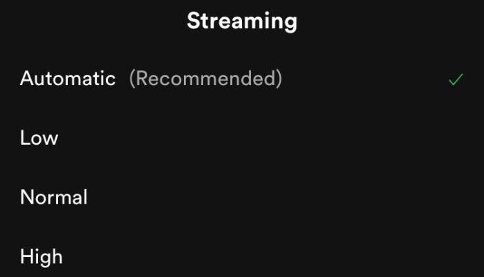 Calidad de audio de Spotify