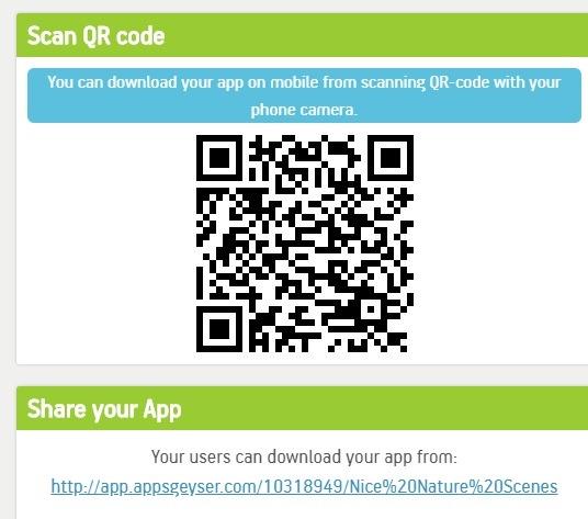 Appsgeyser Descargue la aplicación Qr Code Share Link