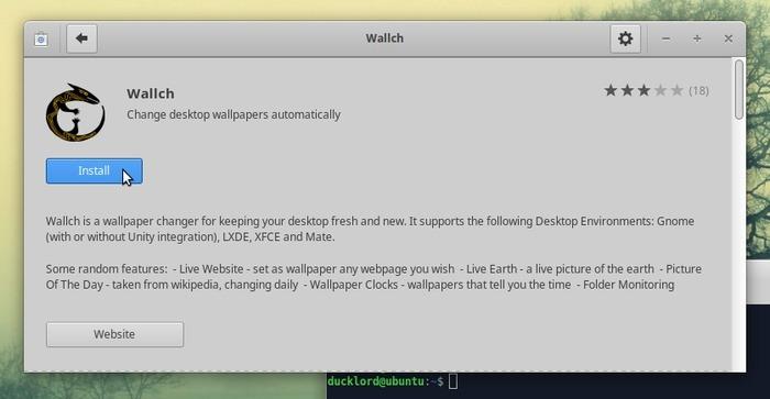 El mejor cambiador de fondos de pantalla de Linux instala Wallch