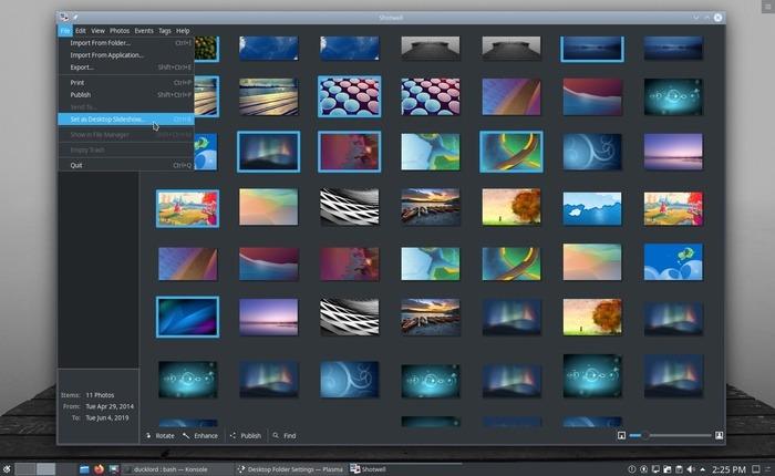 Los mejores cambios de fondo de pantalla para Linux Shotwell Desktop Slideshow