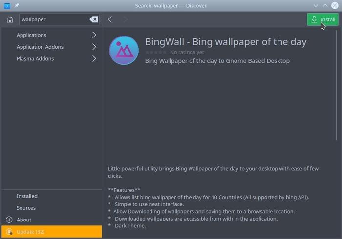 Mejor instalación de cambiador de pantalla de Linux Instalación de Bingwall
