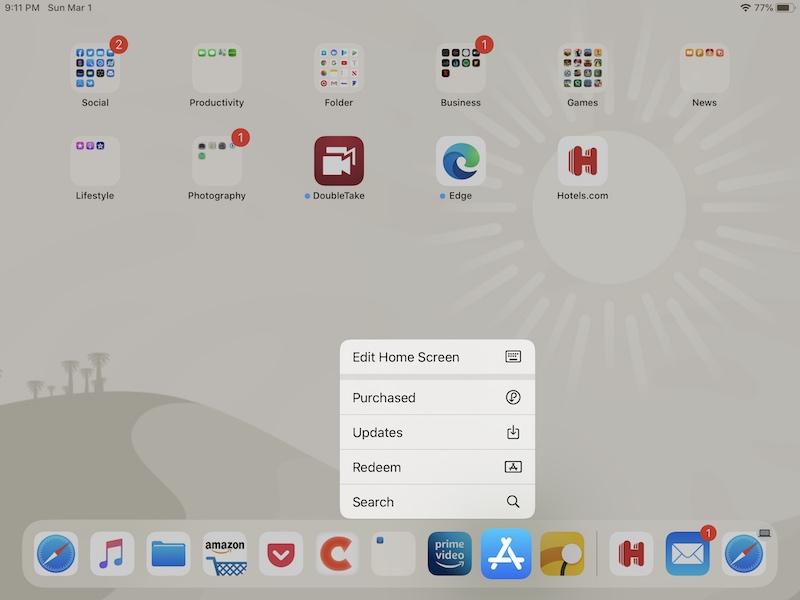 Cómo personalizar los limpiaparabrisas de la estación de acoplamiento del iPad