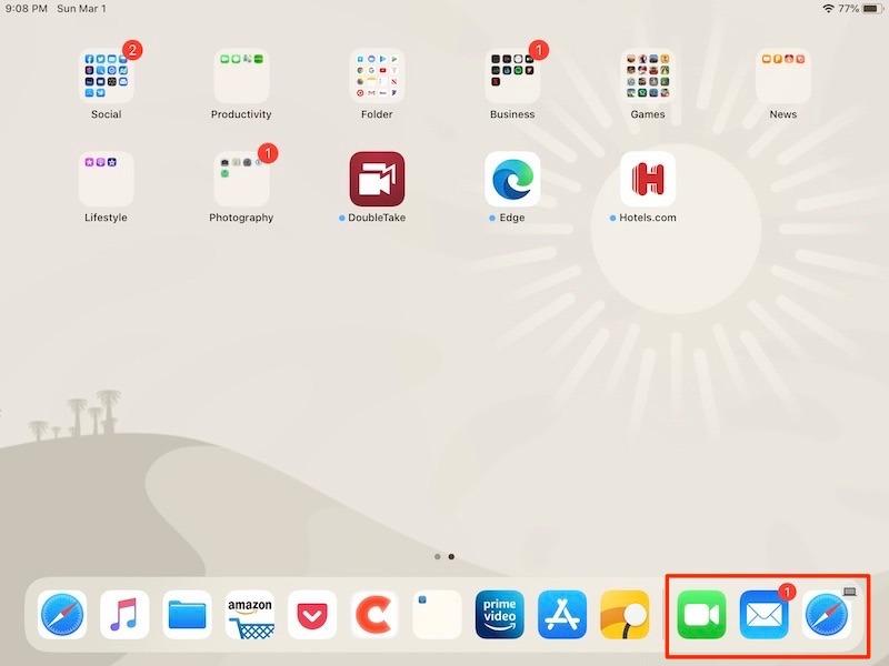 Cómo personalizar la pantalla de inicio de su base para iPad