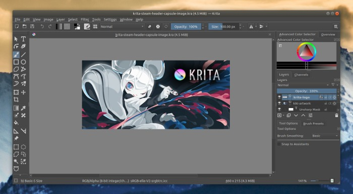 el mejor software de código abierto-2019-krita