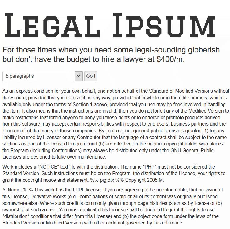 Lorem Ipsum Legal