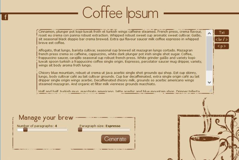 Café Lorem Ipsum