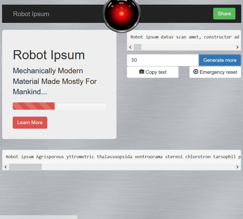 El robot Lorem Ipsum