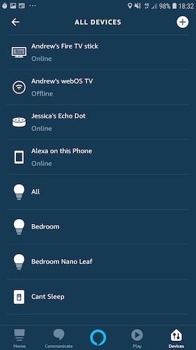 Registre dispositivos inteligentes con Amazon Alexa
