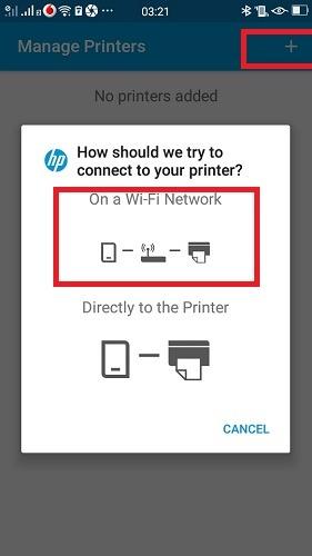 Imprimir usando Android El complemento de servicio Phone Hp agrega una impresora de red Wi-Fi