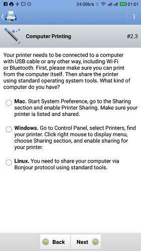 Imprimir usando Android Seleccione el sistema operativo del teléfono