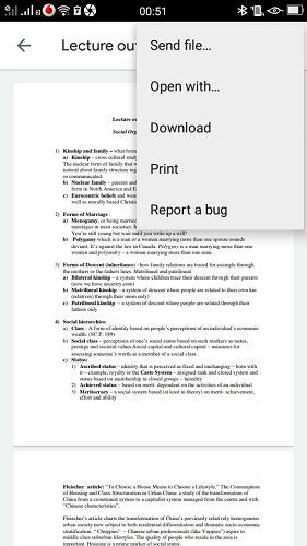 Imprimir usando Android Pedido de impresión por teléfono