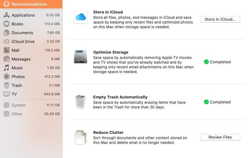 Limpiar la memoria del disco duro de Mac