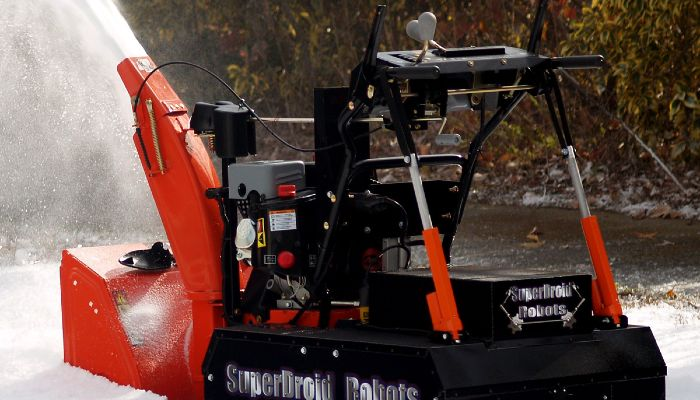 Robot soplador de nieve