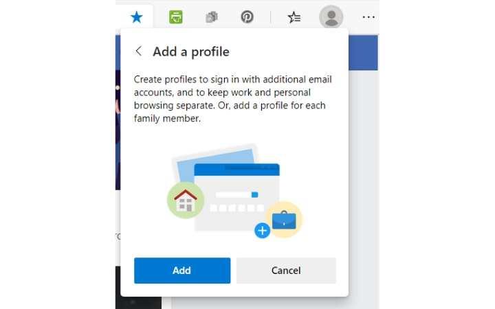Perfiles de usuario de Edge Agregue su primer perfil