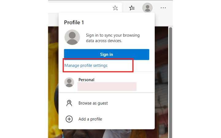 Perfiles de usuario de Edge Administra la configuración del perfil