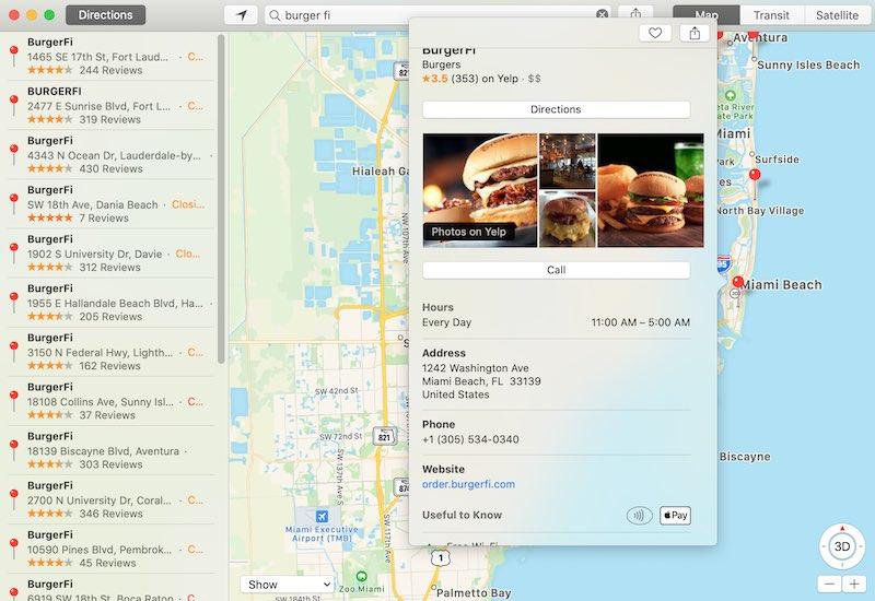 Usar Apple Maps Buscar Apple Pay Mac Burgerfi