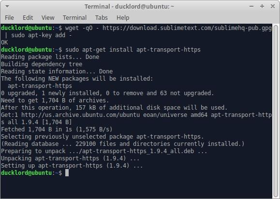 Ubuntu Sublime Text para agregar una clave HTML