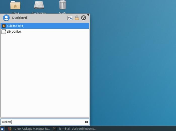 Ubuntu Sublime Text para HTML instalado en el menú