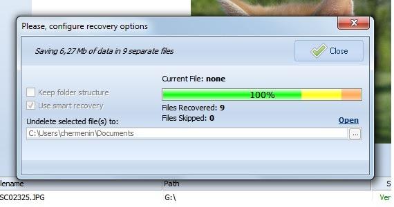 Restaurar el escaneo de un disco duro formateado accidentalmente undelete360