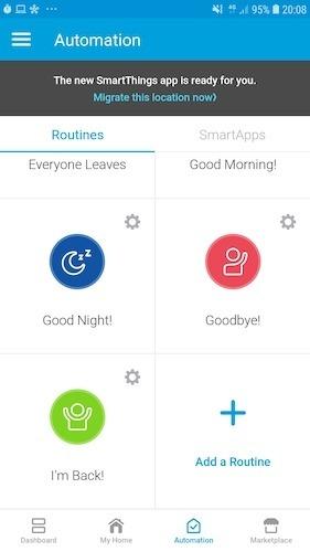 Vamos a editar la rutina incorporada de Samsung I Back.