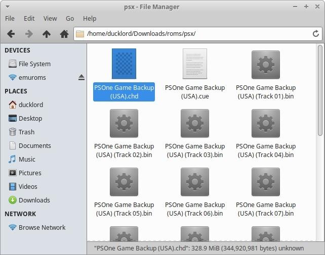 ¿Cuáles son los archivos de CD convertidos en el juego Psone?