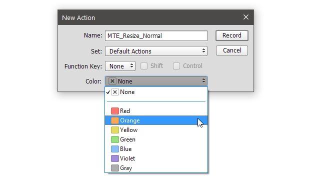 Proceso de acción del proceso de color PS