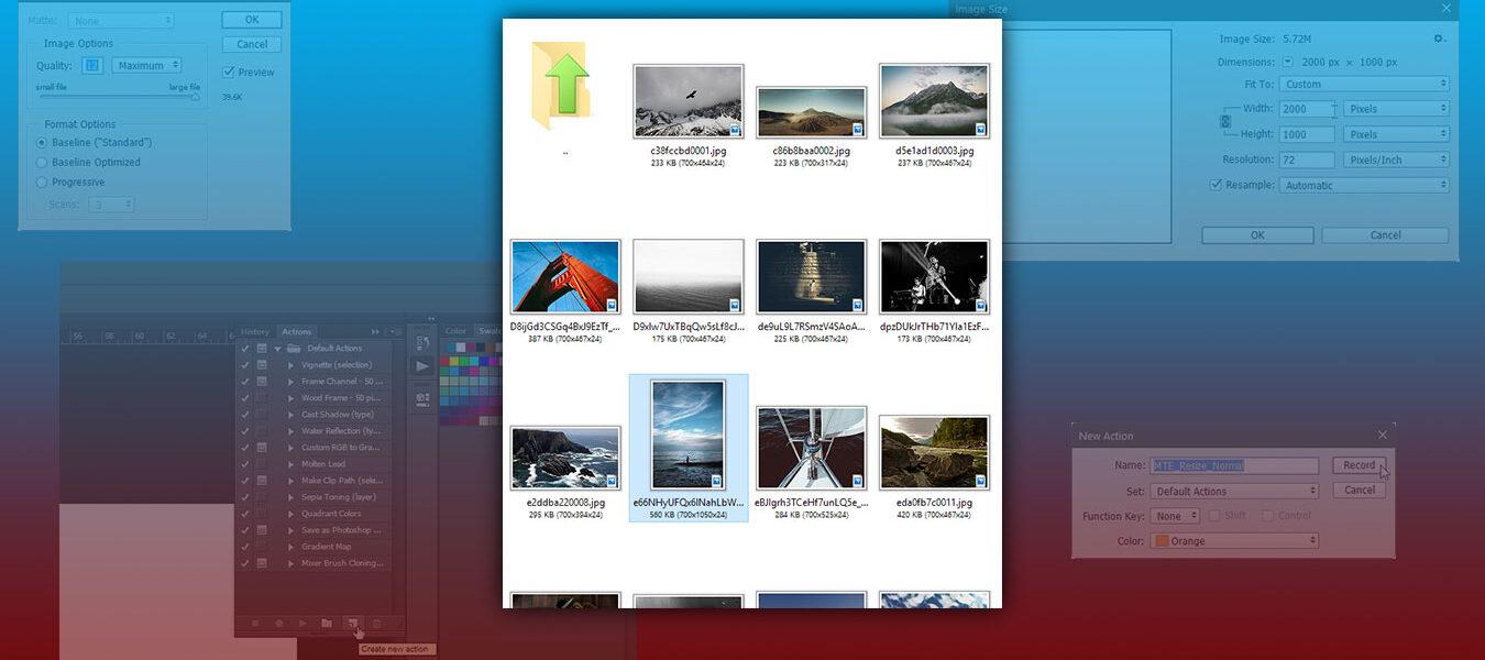 Cómo procesar archivos por lotes en Photoshop