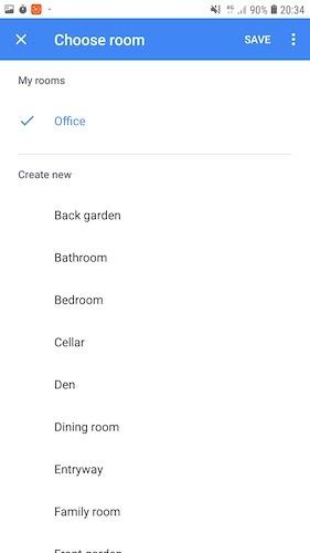 Para una automatización del hogar más eficiente, considere agrupar dispositivos inteligentes en habitaciones.