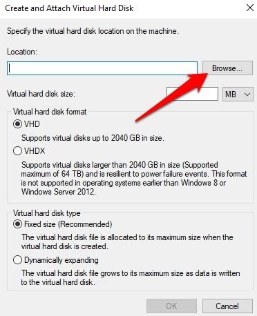 Protección de archivos con contraseña Windows 10 Crea un navegador VHD