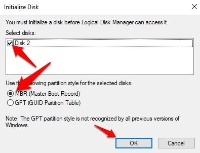 Protección de archivos con contraseña Windows 10 Inicialice el Mbr